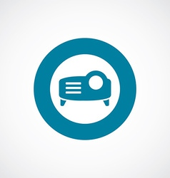 projector icon bold blue circle border vector image vector image