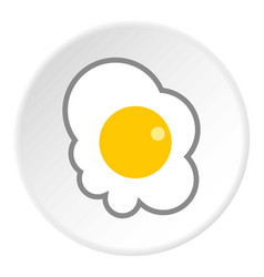 Scrambled eggs icon flat style vector