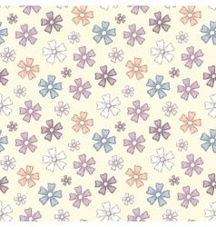 Spring flower pattern vector image vector image