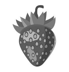 strawberry icon gray monochrome style vector image