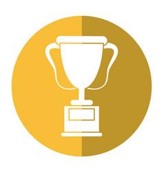 Trophy award sport shadow vector