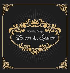 Vintage luxury monogram logo template vector