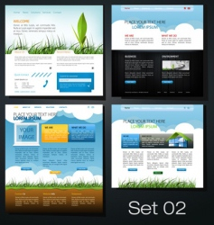 website set vector image vector image