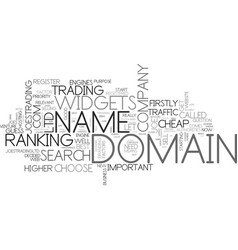 Which domain name do i choose text word cloud vector