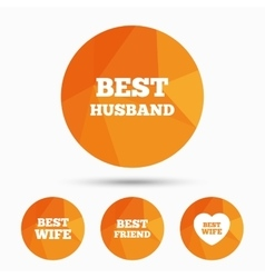 Best wife husband and friend icons vector