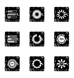 Download page icons set grunge style vector