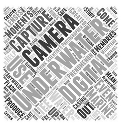 Underwater digital camera word cloud concept vector
