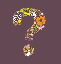 Question floral mark vector