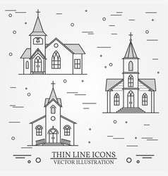 Thin line icon church vector