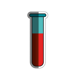 Test tube with blood vector
