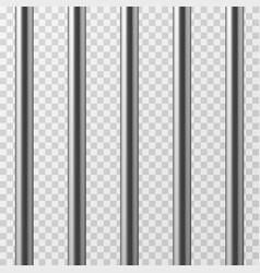 Realistic metal prison bars jailhouse grid vector