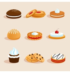 Cookies set isolated vector