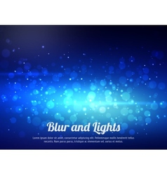 Abstract blue colorful bokeh background festive vector