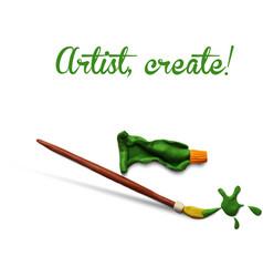 Artist poster vector