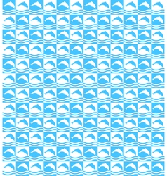 Summer mosaic pattern with dolphins vector