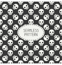 Geometric hipster seamless pattern with skulls and vector