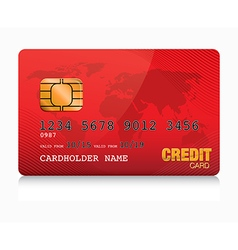 Red credit card vector