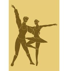 Carved Ballet vector image
