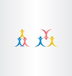 People acrobatics icon symbol vector