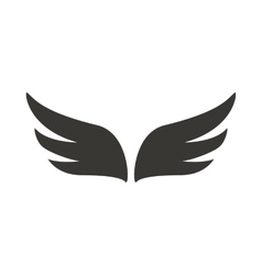 A pair of abstract black wings icon simple style vector image