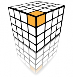 cube puzzle box vector image