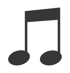 Music note in black and white vector