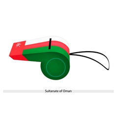 A whistle of the sultanate of oman vector