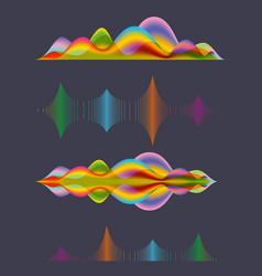 abstract sound wave design elements vector image vector image