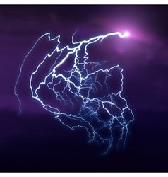 Background with cloud and lightning vector