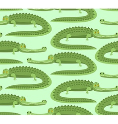 Crocodile seamless pattern Good caiman ornament vector image vector image