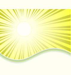 Design with sun rays vector