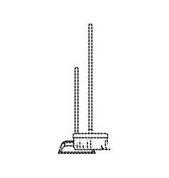 dustpan and broom i in monochrome dotted vector image vector image