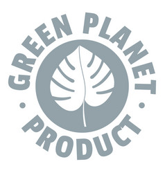 eco planet logo simple gray style vector image vector image