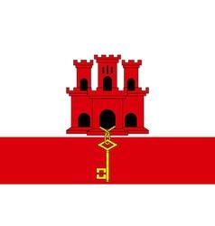 Flag of gibraltar vector