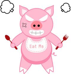 Furious pig vector