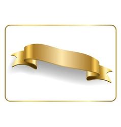 Gold satin ribbon on white 7 vector