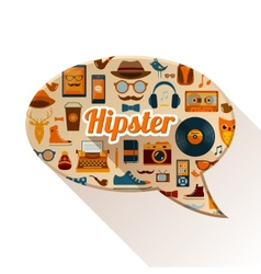 Hipster Social Concept vector image