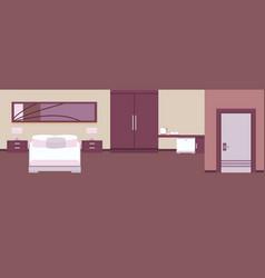 Interior hotel room vector