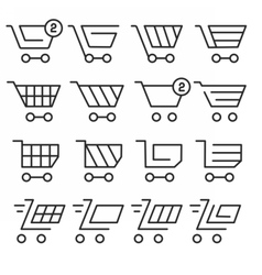 lines icons pack collection vector image vector image