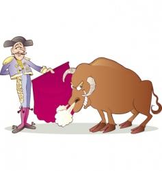 Matador and bull vector