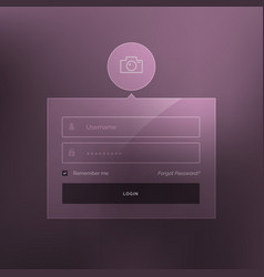 Minimal login form template design vector
