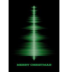 Musical christmas tree card vector