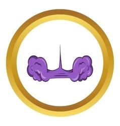 Ninja toxic smoke weapon icon vector