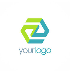 polygon business logo vector image vector image