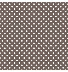 Seamless pattern white polka dots dark background vector image