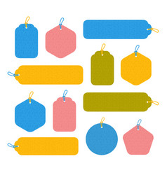 set of bright blank tags vector image