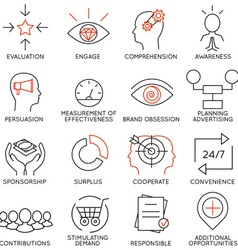 Set of icons related to business management - 10 vector