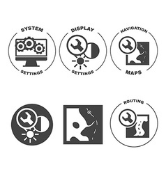 Set of icons web mobile settings apps vector