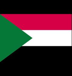 sudan flag flat vector image vector image
