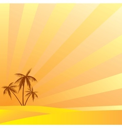 Summer holidays in the south under the palm trees vector image vector image